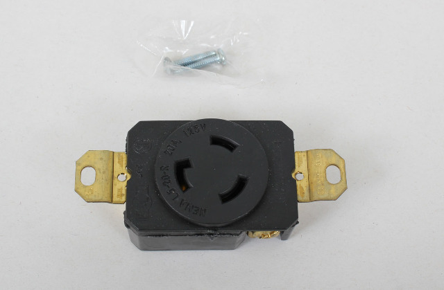 Pass and Seymour Turnlok Receptacle Single, 2pole 3wire, 20amp 125v L520R