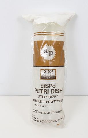 NOS  Lot of 20 Scientific Products PS Petri Dish 100x15mm D1907
