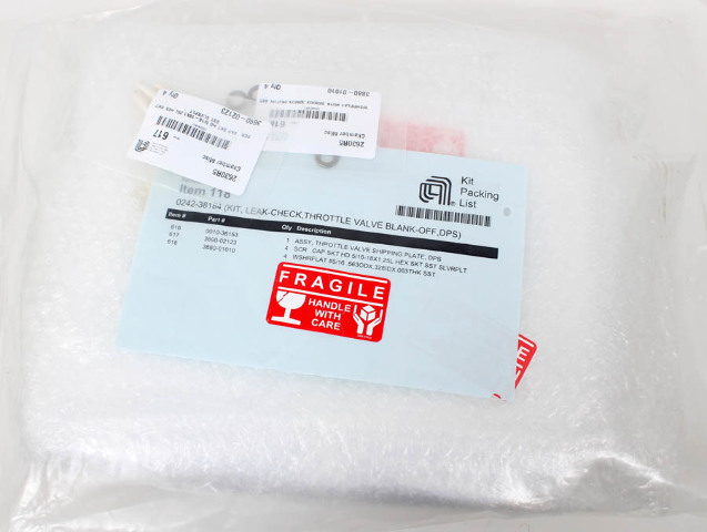Applied Materials AMAT Leak-Check Throttle Valve Kit, Blank-Off, DPS 0242-38184