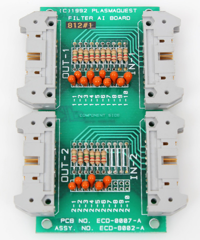 Plasma Quest Filter AI Board 2-Channel, (4x)20-Pin Connectors, ECD-8002-A