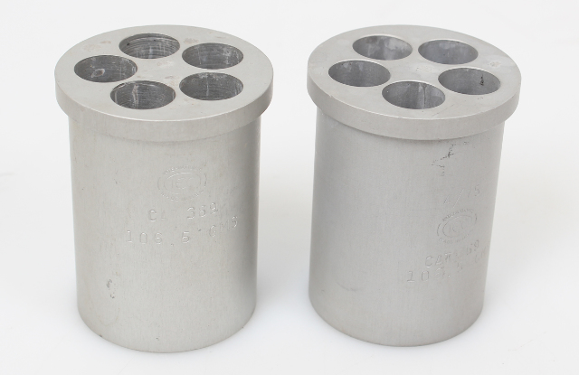 Lot of 2 IEC 369 5 Place Centrifuge Tube Carrier 106.5g