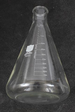 Bellco 3L Erlenmeyer Flask 3000mL 2504-03000