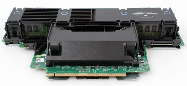 M654T Dell PowerEdge R910 Memory Riser Board PWB T315H w// 32GB PC3-8500R RAM