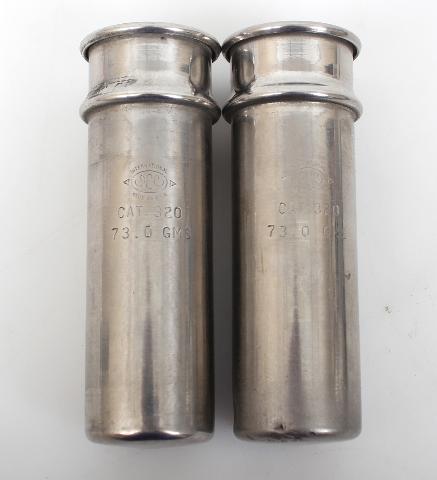 2 Weight Matched 50ml IEC Centrifuge Shield Cat 320 73.0g