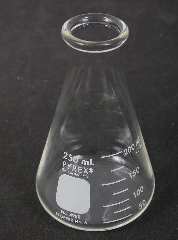 Corning Pyrex Graduated Erlenmeyer Flask 250 mL 4980-250