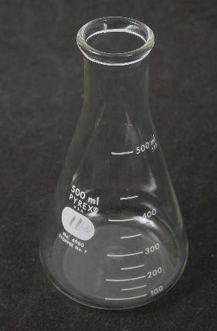 Corning Pyrex  Graduated Erlenmeyer Flask 4980-500 500 mL