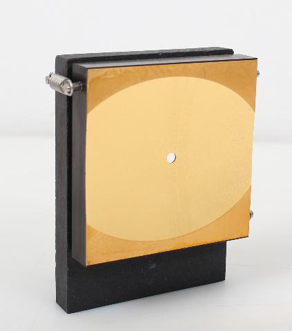 Bio-Rad FTS-40 Spectrometer Elliptical Gold Mirror Slight Scuffs