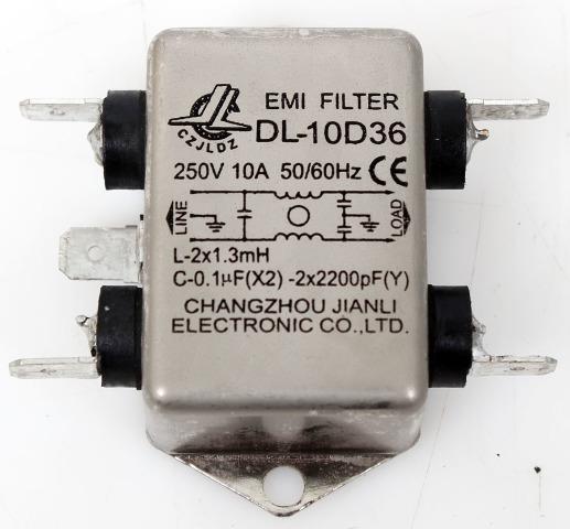 EMI Filter DL-10D36  for Thermo IEC Centra CL2 Centrifuge 250V 10A