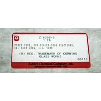 New Aldrich Pyrex Reaction Tube 16cm long 14mm ID Z16395-3
