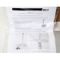 """NEW GCX Roll Stand Adapter Plate w/ 10"""" Post for 5"""" Plunger Plate RSL-0008-04"""