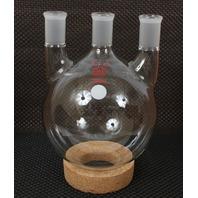 New Kontes 2000mL Distilling Three Neck Round Bottom Heavy Wall Flask 6060201824