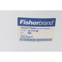 Lot of 450+ FisherBrand Disposable Graduated Transfer Pipettes 5.8mL 13-711-9A