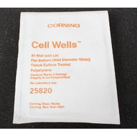 New! Lot of 45 Corning 24 Cell Well Tissue Culture Plate with Lid 25820