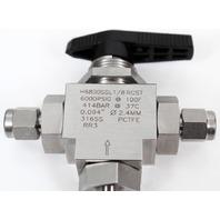 HAM-LET H6800SSL1/8 RCST Stainless Steel 3-Port LET-LOK Ball Valve 6000 PSI