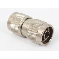 Amphenol 74868 UG-57B/U  RF Adapter. N Type Plug to N Type Plug, 50 ohm