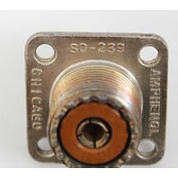 Amphenol UHF Panel Receptacle, Solder Cup, 4-hole Square Flange SO-239 83-1R