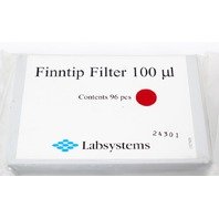 Labsystems Finntip Filter Pipette Tips 100ul Sealed Box of 96 pcs
