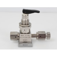 Parker Stainless Steel Bellows Sealed Valve w/ Toggle Handle 4V1-PT4K-SS