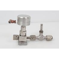Parker Stainless Steel Diaphragm Valve w/ Metering Valve 4V1-P4K-11AC-SS