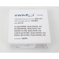 VWR Grade 410 Qualitative Filter Paper 9.0cm 100 Filters 28321-077