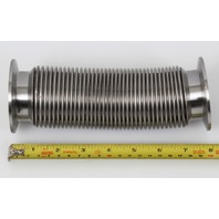 """Stainless High Vacuum Pipe Flexible Bellows Tube NW50 KF50 Flange 7.5"""" 190mm"""