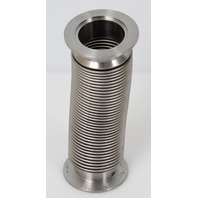 "Stainless High Vacuum Pipe Flexible Bellows Tube NW50 KF50 Flange 7.5"" 190mm"