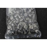 Lot of 100 Perine Danforth 10-32x3/8 SS Hex Button Cap Security Screw 10F37SBCS