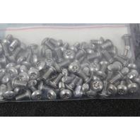 100 Pcs  Perine Danforth 10-32x3/8 SS Torx Button Cap Security Screw 10F33BHXS/T