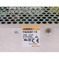 Cosel PAA50F-15 Power Supply 5V 10A 100-240VAC 0.7 A 50-60Hz TEL