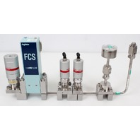 Fujikin FCS-4WS-F122B Mass Flow Controller w/ Valves .39~59 MPa N.C. C4F8 Gas