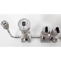 Fujikin FCS-4WS-F200 Mass Flow Controller w/ Valves .39~59 MPa N.C. O2 Gas