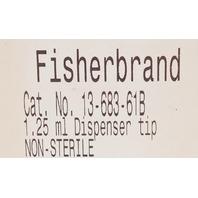 Box of 40, FisherBrand 1.25 ml Dispenser Tip 13-683-61B
