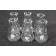 Lot of 6 Corning Pyrex Erlenmeyer Flask 25 mL 4980-25
