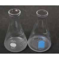Lot of 2 Pyrex Graduated Erlenmeyer Flask 250 mL