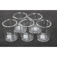 Lot of 5 Corning PYREX Griffin Low Form 10mL Beaker 1000-10