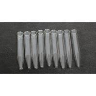 Lot of 9 Corning  Pyrex 15mL Conical Centrifuge Tube w/ Beaded Rim 8060-15