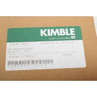 100 Kimble Clear Autosampler Vials with Aluminum Caps 12x32mm 2 mL 60820-1232