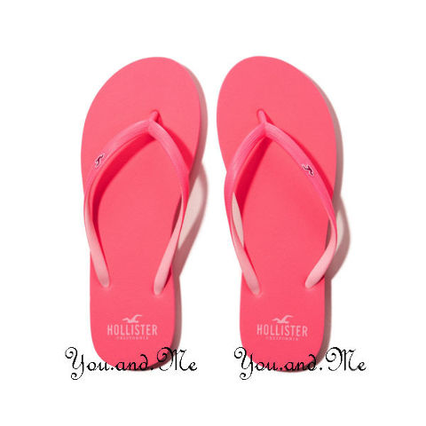 549dc2643ce Details about NEW HOLLISTER Rubber Flip Flops for WOMEN Pop Color Sandals /  Slippers Pink XS-M