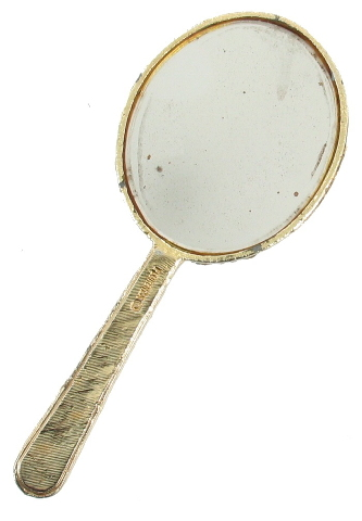 Vintage Florenza Dresser Vanity Purse Bag Hand Mirror