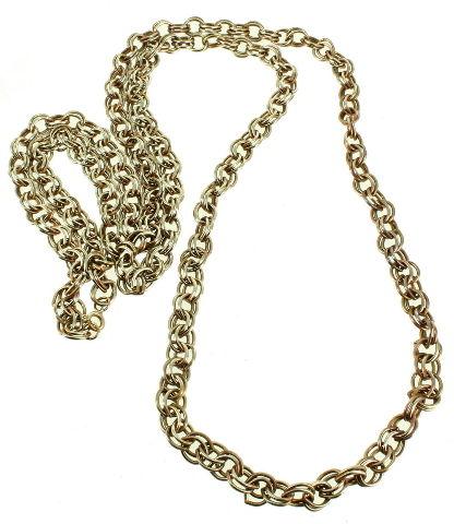 1980s Vintage gold tone link necklace