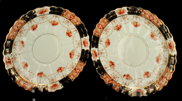 Antique Pair Rare Royal Albert Crown China Dinner Plates Unusual Pattern & Antique Pair Rare Royal Albert Crown China Dinner Plates Unusual ...