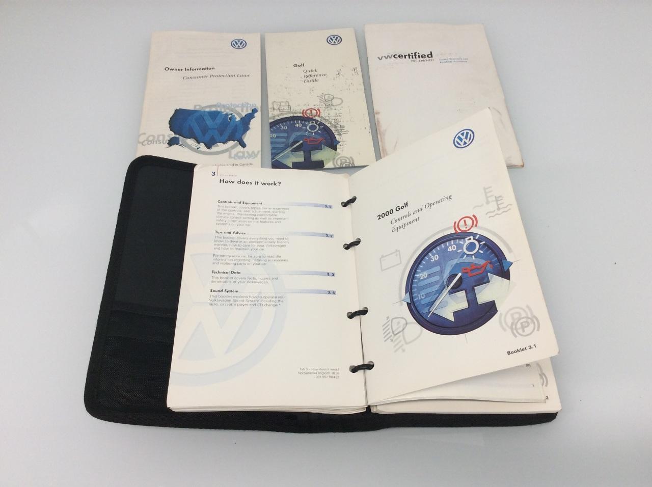 2000 volkswagen golf owners manual torn cover ebay rh ebay com Volkswagen Golf TDI Volkswagen Golf Manual Transmission
