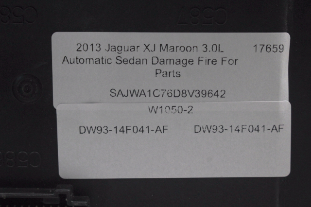 2013 jaguar xj 3 0l fuse box dw93-14f041-af