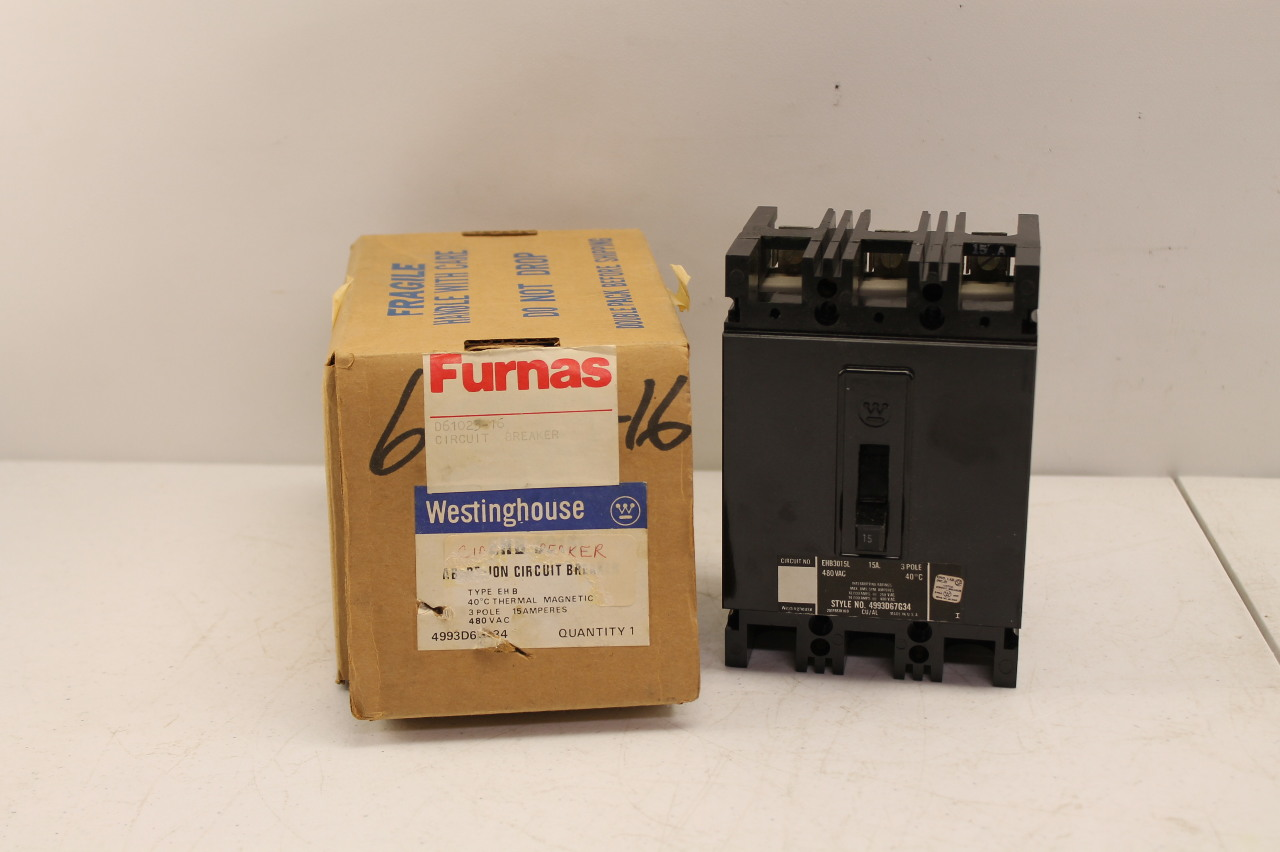Westinghouse Cutler Hammer EHB3015L Circuit Breaker 15A 3P 480V New In Box