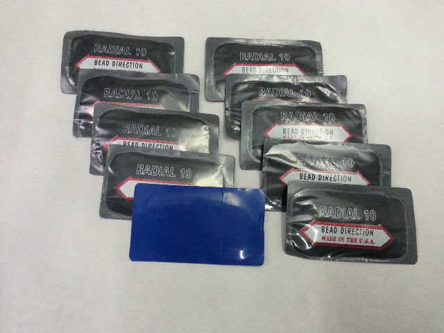 """(10) USA  Tire Patch - COI Directional Dual Cure Repair 1-5/8"""" x 3"""""""