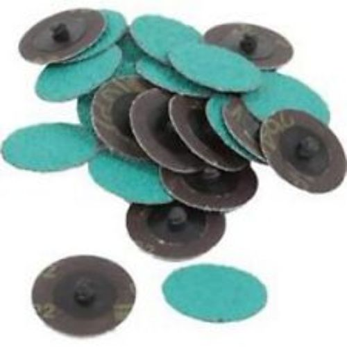 """25 PACK OF 2"""" 24 GRIT GREEN ROLOC DISCS"""