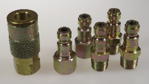 MADE IN USA - TRU FLATE T STYLE AIR HOSE FITTING SET- MILTON BRAND