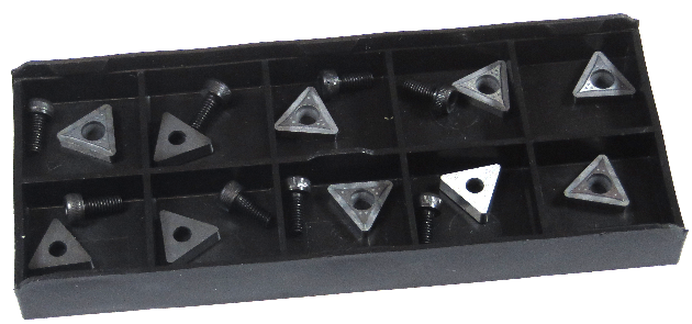 (10) Replacement bits and screws - Positive Rake, PRO CUT OCL on car brake lathe