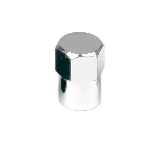 TPMS Chromed Plastic Long Skirted Valve Stem Cap 50Qty