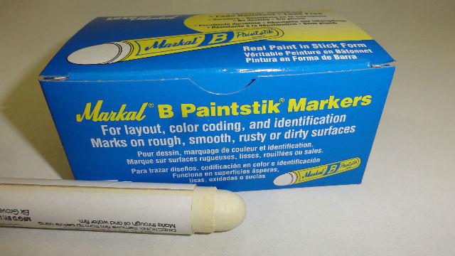 2 Qty Markal B Tire Repair Crayon Marker Paint Stick Paintstik WHITE
